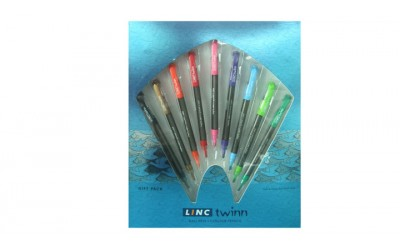 Linc Twinn Ball Pen plus Colour Pencil (9 pcs Gift set)