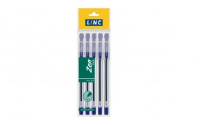 Zen Dark Ball Pen  5 Pc Pouch