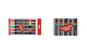 Pick up any 5 pcs of Uni POSCA 5M @ Rs 429 /-