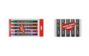 Pick up any 5 pcs of Uni POSCA 3M @ Rs 429 /-