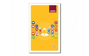 Lemon Long 228 pages Unruled Notebook